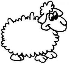 plansa de colorat animale oi de colorat p02