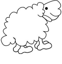 plansa de colorat animale oi de colorat p03