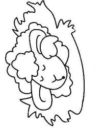 plansa de colorat animale oi de colorat p04