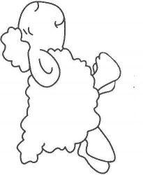 plansa de colorat animale oi de colorat p07