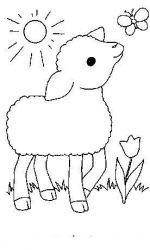 plansa de colorat animale oi de colorat p09