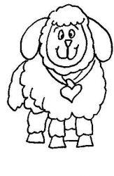 plansa de colorat animale oi de colorat p18