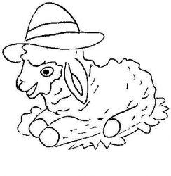 plansa de colorat animale oi de colorat p25