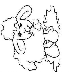 plansa de colorat animale oi de colorat p26