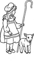 plansa de colorat animale oi de colorat p43