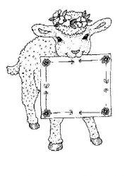 plansa de colorat animale oi de colorat p45