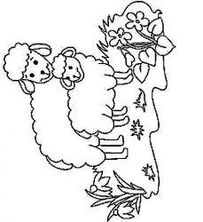 plansa de colorat animale oi de colorat p54