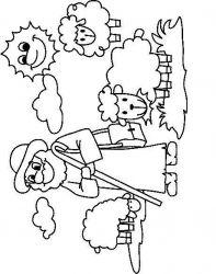 plansa de colorat animale oi de colorat p58