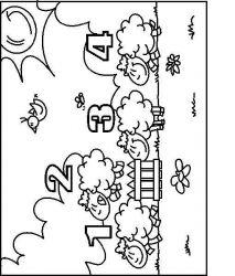 plansa de colorat animale oi de colorat p63