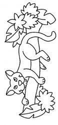 plansa de colorat animale pantere de colorat p01