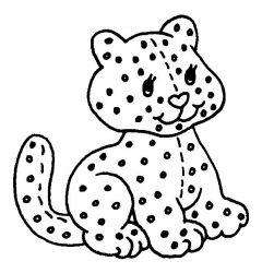 plansa de colorat animale pantere de colorat p02