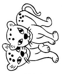 plansa de colorat animale pantere de colorat p07