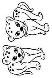 plansa de colorat animale pantere de colorat p08