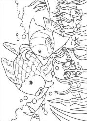 plansa de colorat animale pestisori de colorat p01