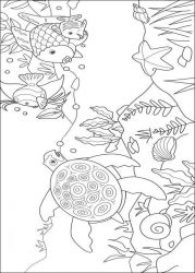 plansa de colorat animale pestisori de colorat p02