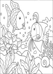 plansa de colorat animale pestisori de colorat p04