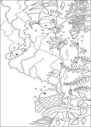 plansa de colorat animale pestisori de colorat p05