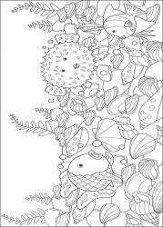 plansa de colorat animale pestisori de colorat p09