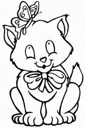 plansa de colorat animale pisici de colorat p01