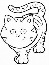 plansa de colorat animale pisici de colorat p02