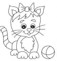 plansa de colorat animale pisici de colorat p05