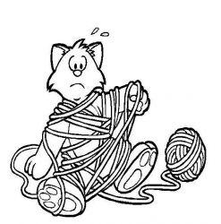 plansa de colorat animale pisici de colorat p11