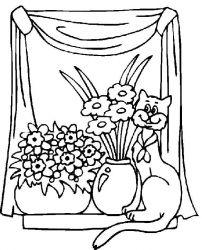 plansa de colorat animale pisici de colorat p13