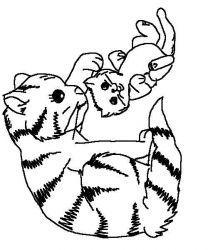 plansa de colorat animale pisici de colorat p18