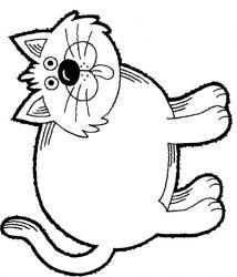 plansa de colorat animale pisici de colorat p19