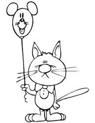 plansa de colorat animale pisici de colorat p22