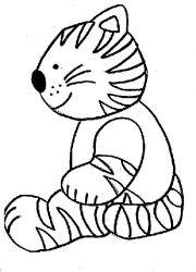 plansa de colorat animale pisici de colorat p27