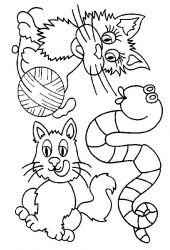 plansa de colorat animale pisici de colorat p28