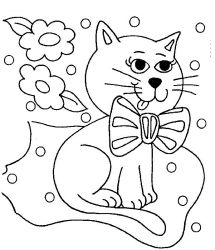 plansa de colorat animale pisici de colorat p31