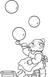 plansa de colorat animale pisici de colorat p35