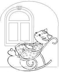 plansa de colorat animale pisici de colorat p37