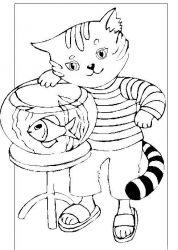 plansa de colorat animale pisici de colorat p38