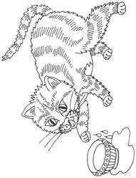 plansa de colorat animale pisici de colorat p41