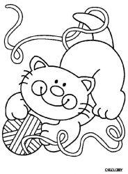plansa de colorat animale pisici de colorat p42