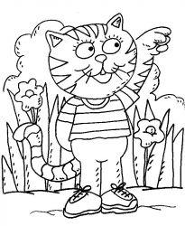 plansa de colorat animale pisici de colorat p45