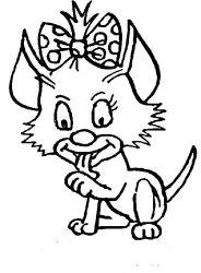 plansa de colorat animale pisici de colorat p46