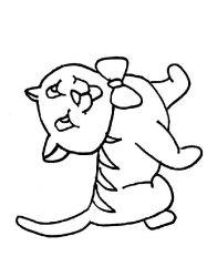 plansa de colorat animale pisici de colorat p48