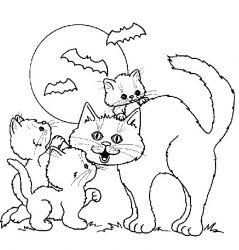 plansa de colorat animale pisici de colorat p49