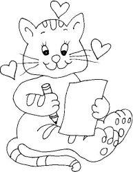 plansa de colorat animale pisici de colorat p52