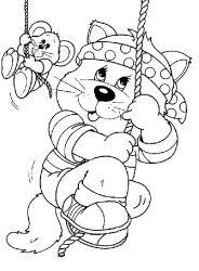 plansa de colorat animale pisici de colorat p56