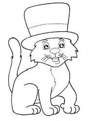 plansa de colorat animale pisici de colorat p58