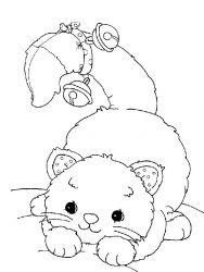 plansa de colorat animale pisici de colorat p59