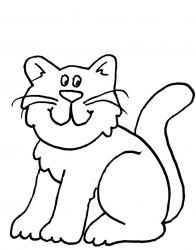 plansa de colorat animale pisici de colorat p60