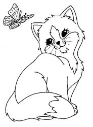 plansa de colorat animale pisici de colorat p62