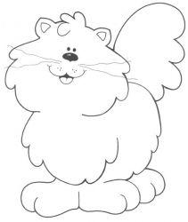 plansa de colorat animale pisici de colorat p64