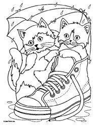 plansa de colorat animale pisici de colorat p65
